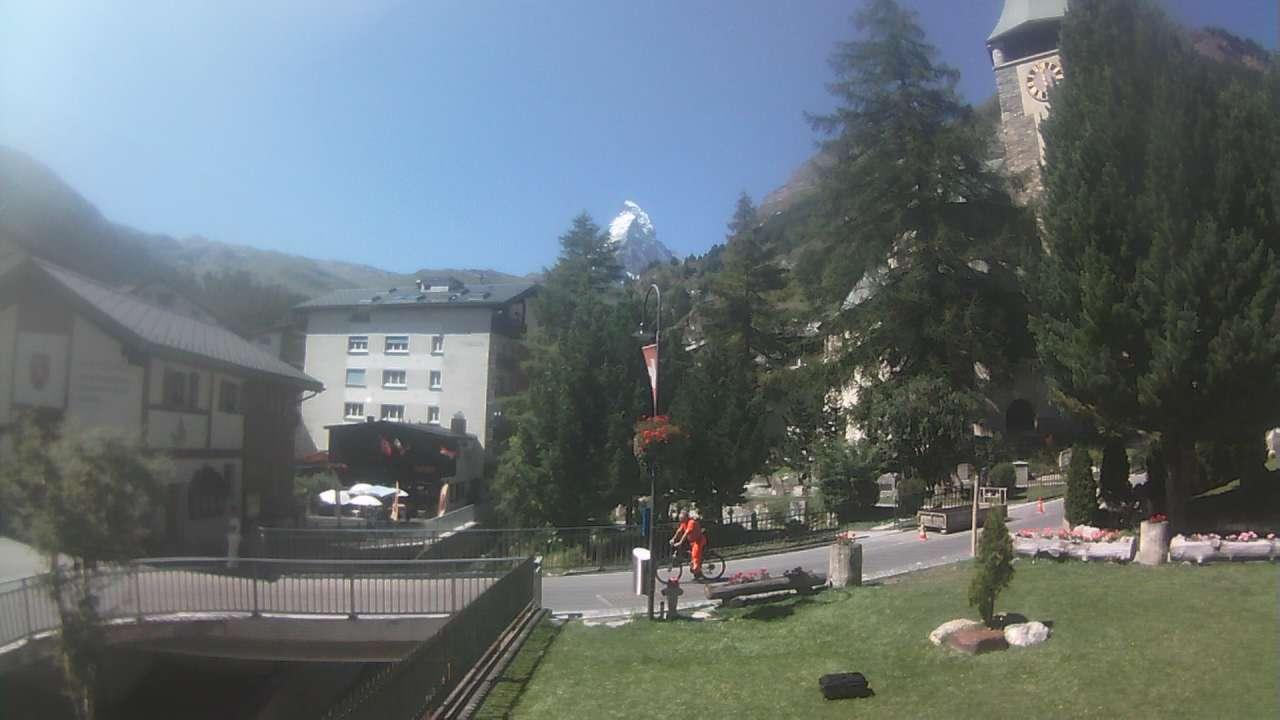 Zermatt: Webcam Kirche