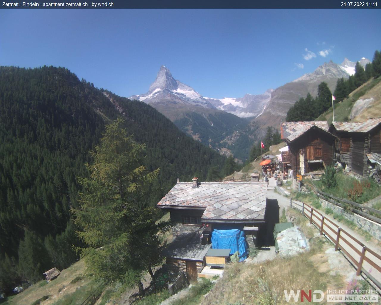 Zermatt: Webcam Findeln