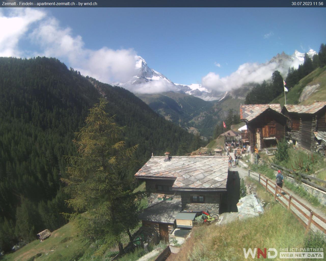 Zermatt: Webcam Findeln